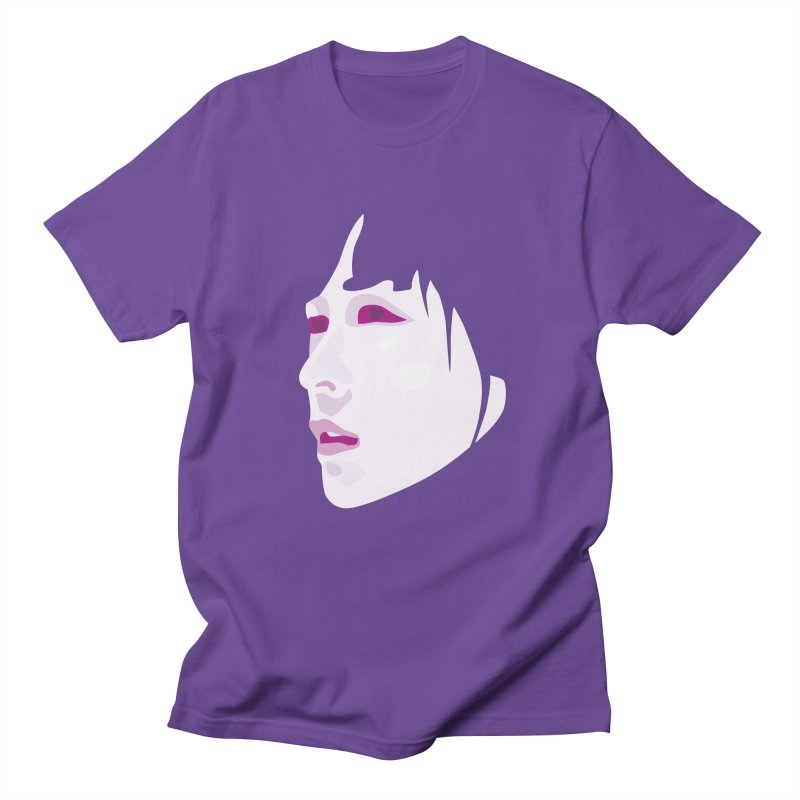 Longing in Men's T-Shirt Purple by Whitewater's Artist Shop