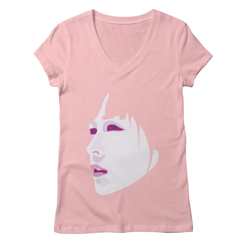 Longing Women's V-Neck by Whitewater's Artist Shop