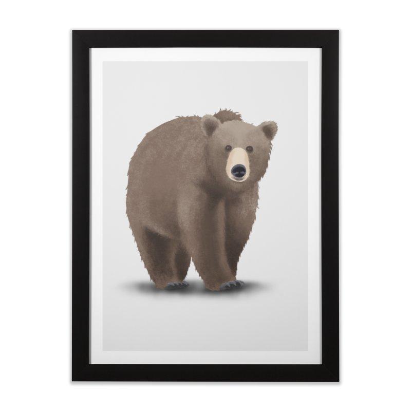 Bear Home Framed Fine Art Print by Whitewater's Artist Shop