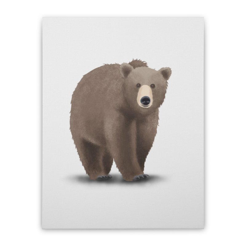 Bear Home Stretched Canvas by Whitewater's Artist Shop