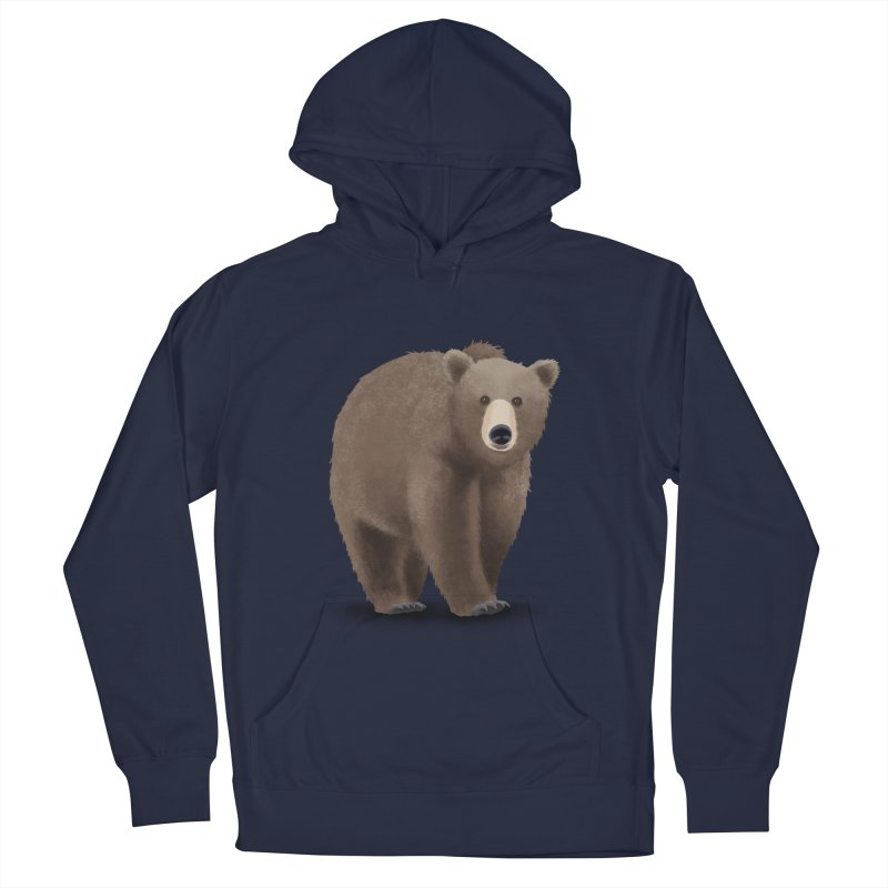 Bear Men's French Terry Pullover Hoody by Whitewater's Artist Shop