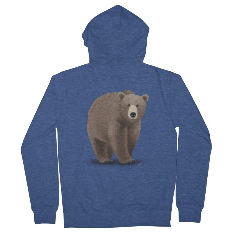 Bear Men's Zip-Up Hoody by Whitewater's Artist Shop