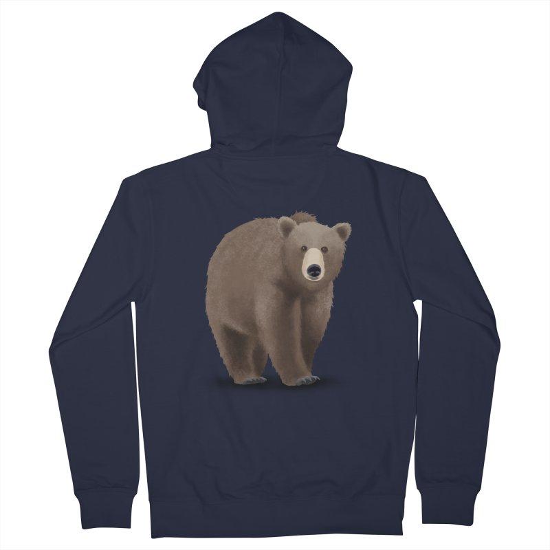 Bear Men's Zip-Up Hoody by Whitewater's Artist Shop