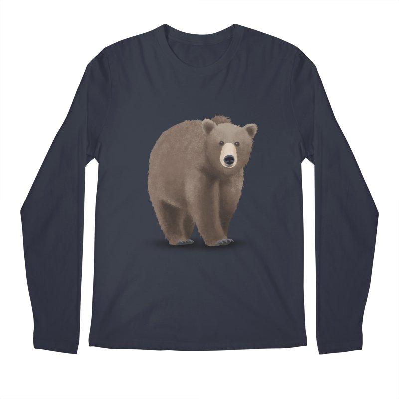 Bear Men's Regular Longsleeve T-Shirt by Whitewater's Artist Shop