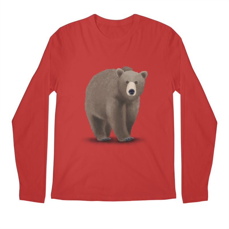 Bear Men's Regular Longsleeve T-Shirt by Whitewater's Artist Shop