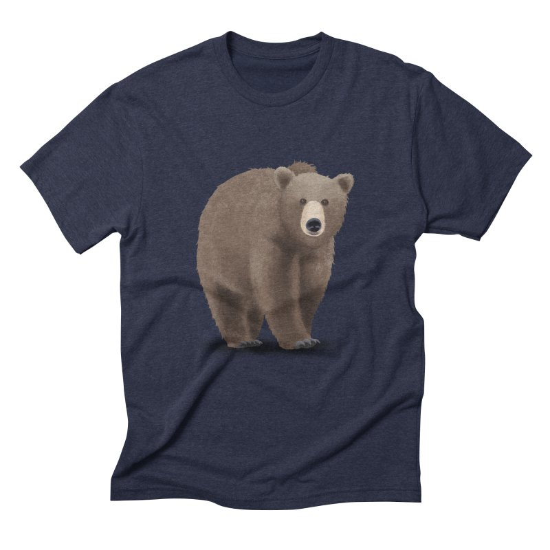 Bear Men's Triblend T-Shirt by Whitewater's Artist Shop