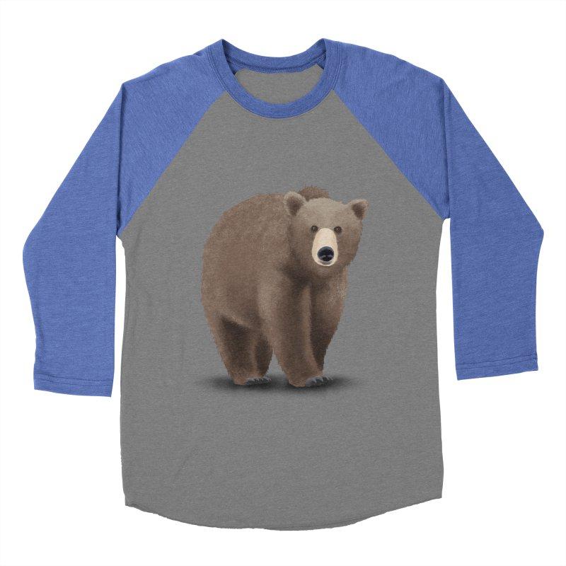 Bear Men's Baseball Triblend T-Shirt by Whitewater's Artist Shop