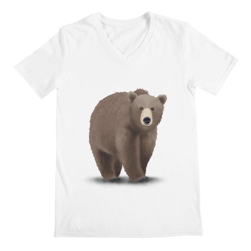 Bear Men's Regular V-Neck by Whitewater's Artist Shop
