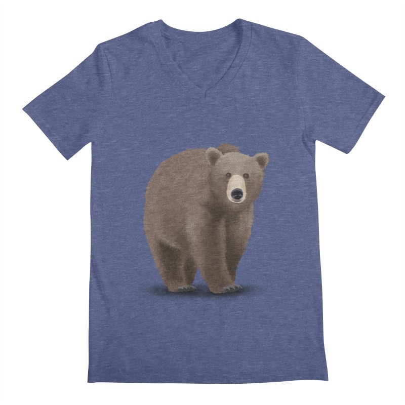 Bear Men's V-Neck by Whitewater's Artist Shop