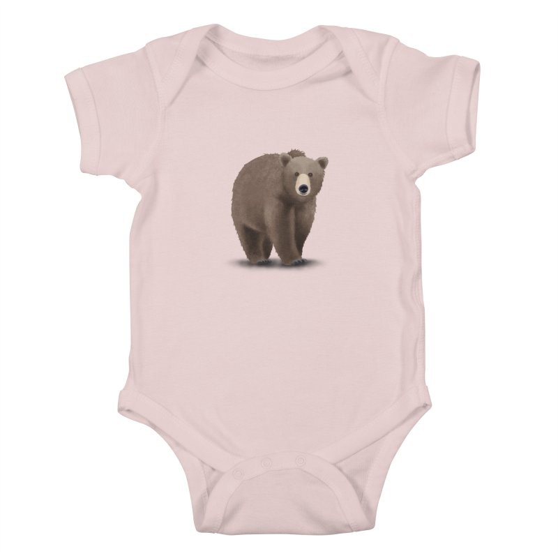 Bear Kids Baby Bodysuit by Whitewater's Artist Shop