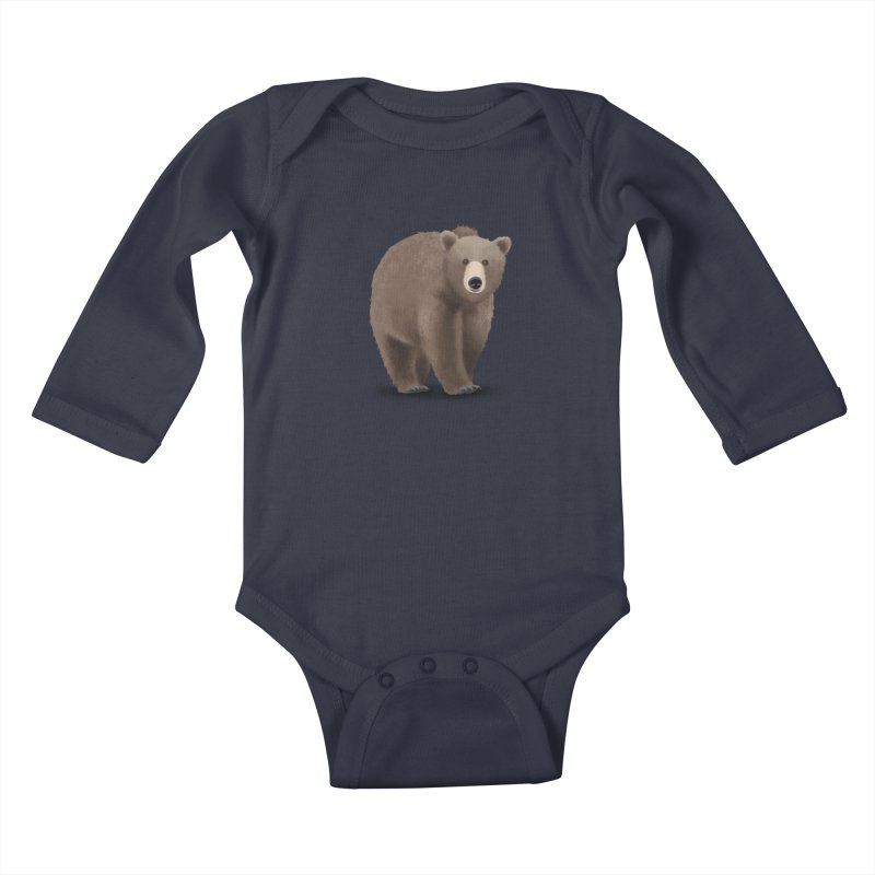 Bear Kids Baby Longsleeve Bodysuit by Whitewater's Artist Shop