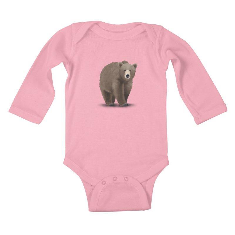 Bear Kids Baby Longsleeve Bodysuit by Whitewater's Artist Shop