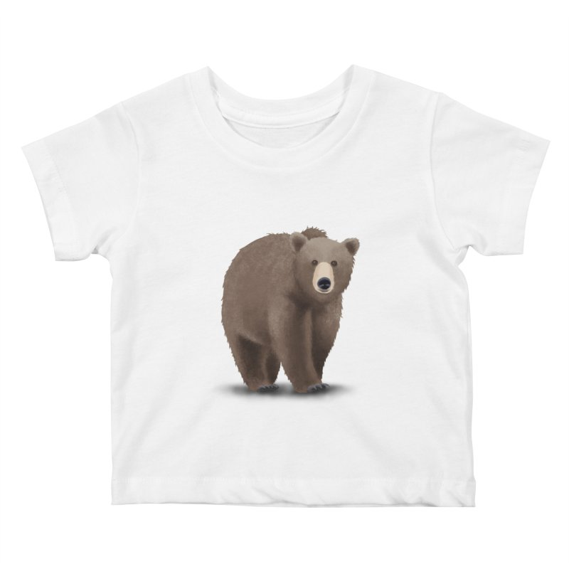 Bear Kids Baby T-Shirt by Whitewater's Artist Shop