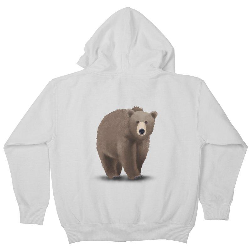 Bear Kids Zip-Up Hoody by Whitewater's Artist Shop