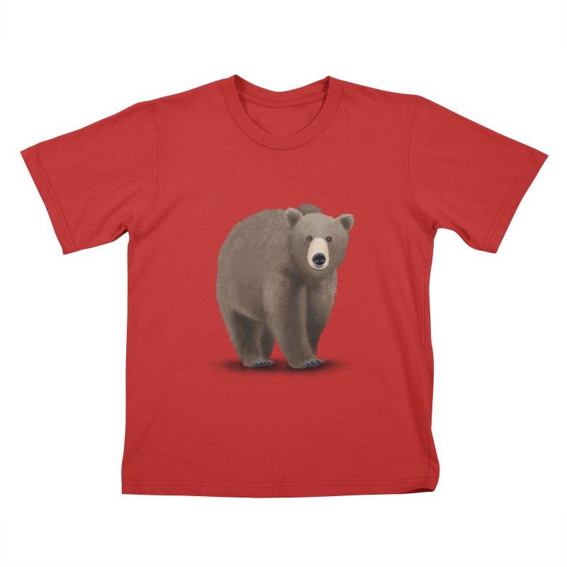 Bear Kids T-shirt by Whitewater's Artist Shop