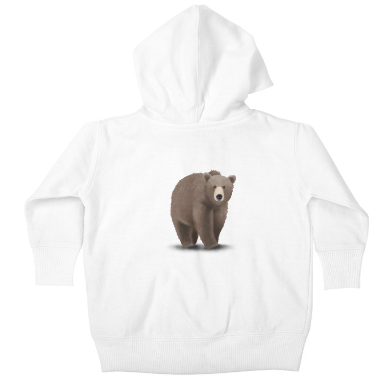 Bear Kids Baby Zip-Up Hoody by Whitewater's Artist Shop