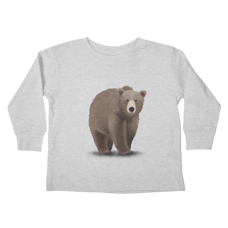 Bear Kids Toddler Longsleeve T-Shirt by Whitewater's Artist Shop