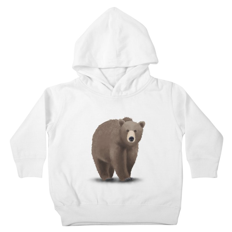 Bear Kids Toddler Pullover Hoody by Whitewater's Artist Shop