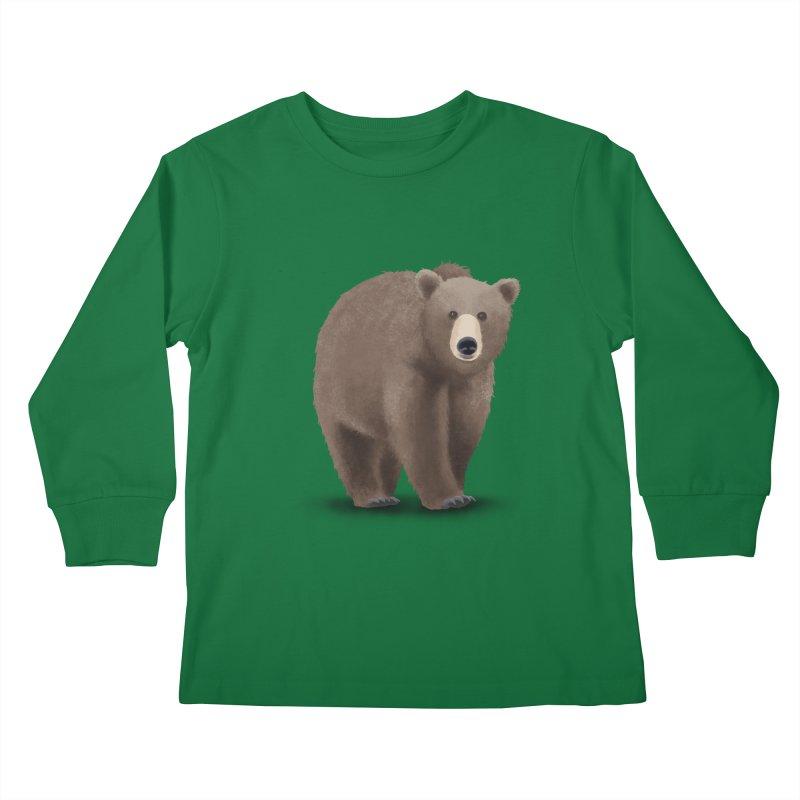 Bear Kids Longsleeve T-Shirt by Whitewater's Artist Shop
