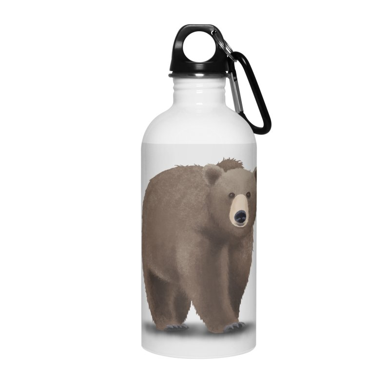 Bear Accessories Water Bottle by Whitewater's Artist Shop