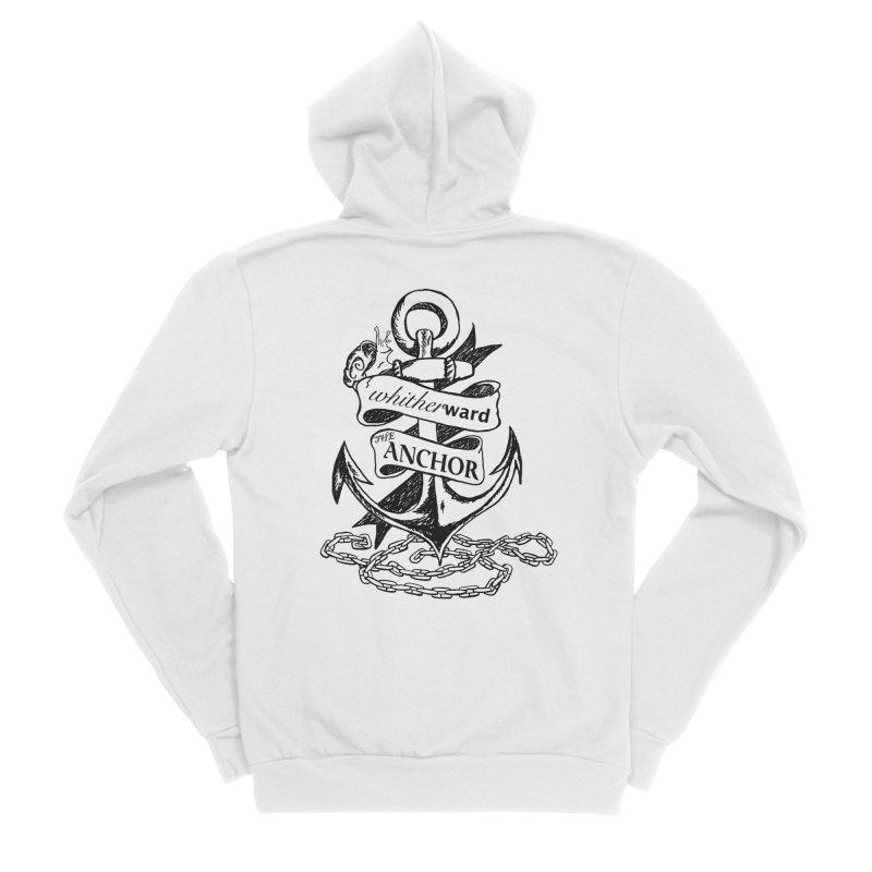 The Anchor Men's Sponge Fleece Zip-Up Hoody by whitherward's Artist Shop