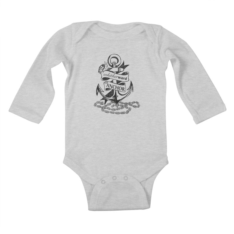 The Anchor Kids Baby Longsleeve Bodysuit by whitherward's Artist Shop
