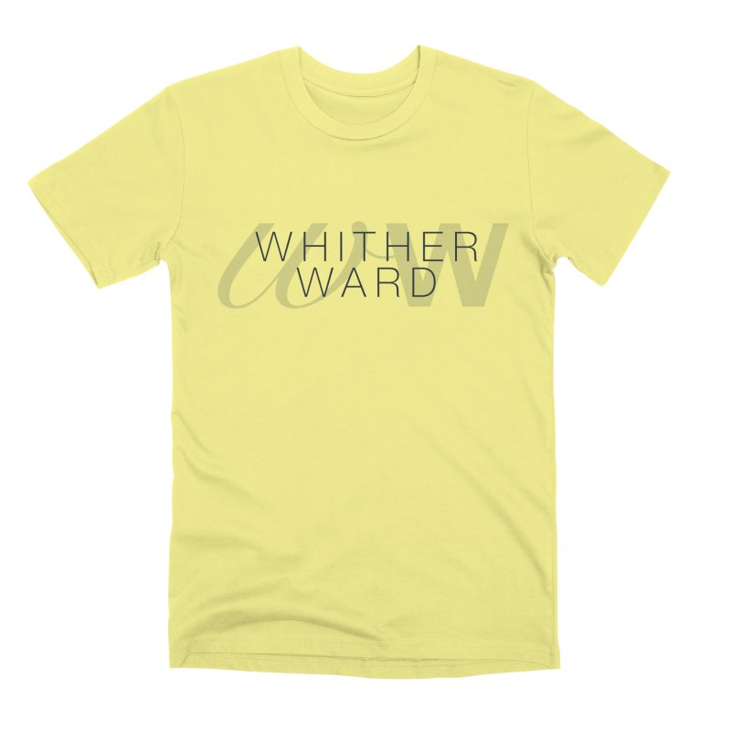 WW + Words (black) Men's T-Shirt by whitherward's Artist Shop
