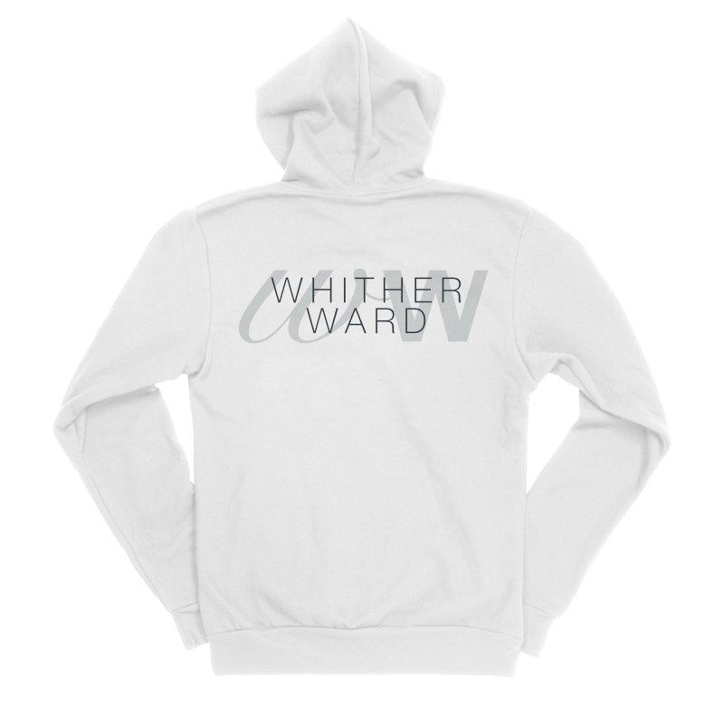 WW + Words (black) Men's Sponge Fleece Zip-Up Hoody by whitherward's Artist Shop
