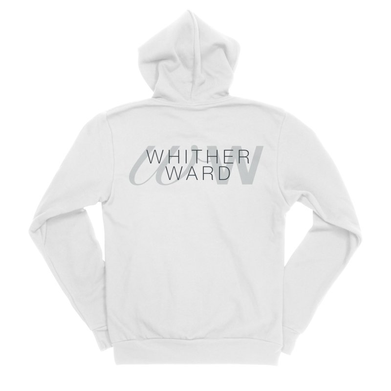 WW + Words (black) Women's Sponge Fleece Zip-Up Hoody by whitherward's Artist Shop