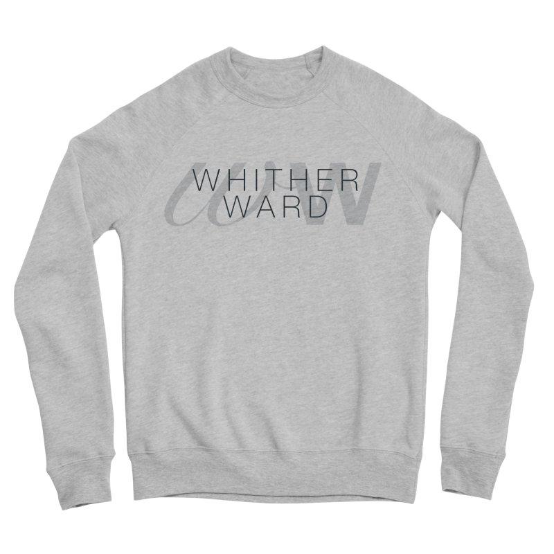 WW + Words (black) Women's Sponge Fleece Sweatshirt by whitherward's Artist Shop