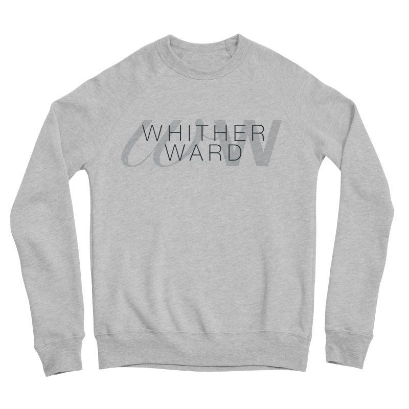 WW + Words (black) Men's Sponge Fleece Sweatshirt by whitherward's Artist Shop