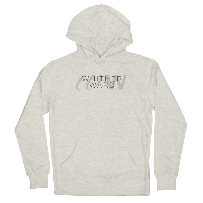 WW + Words (black) Women's French Terry Pullover Hoody by whitherward's Artist Shop