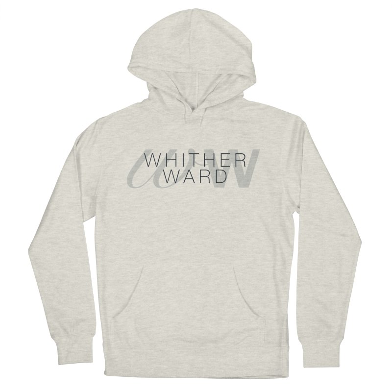 WW + Words (black) Men's French Terry Pullover Hoody by whitherward's Artist Shop