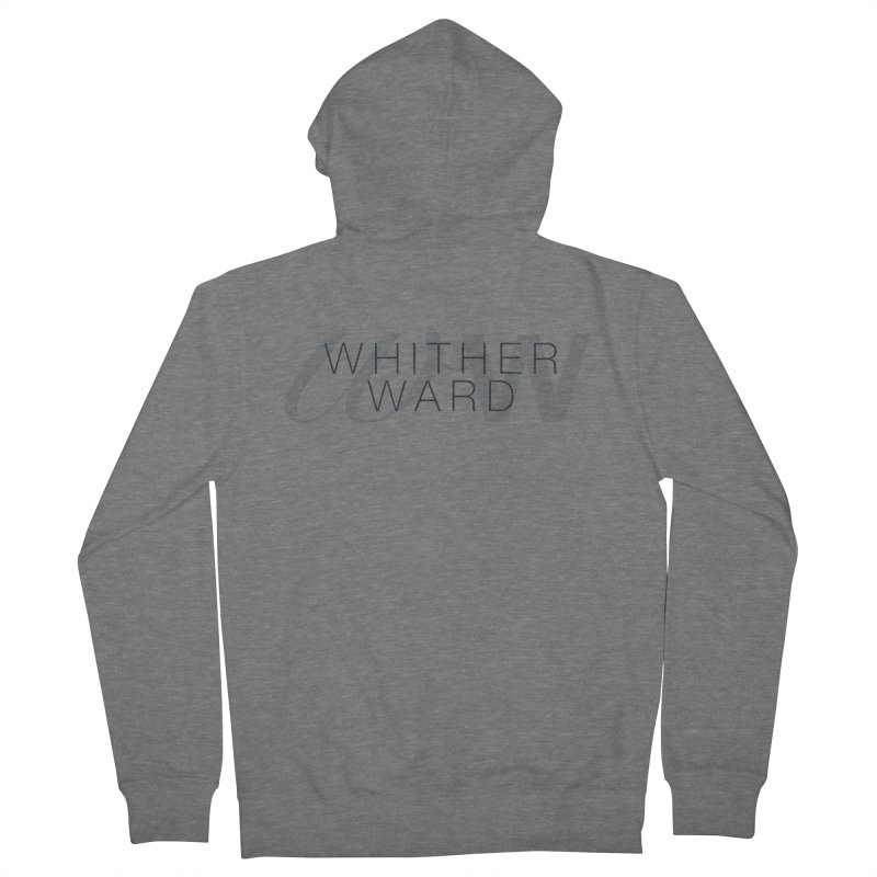 WW + Words (black) Men's French Terry Zip-Up Hoody by whitherward's Artist Shop