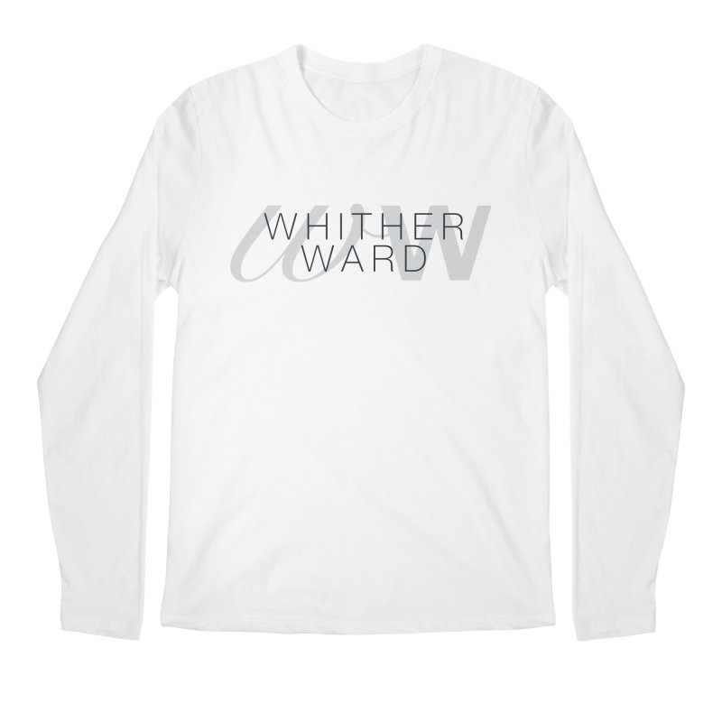 WW + Words (black) Men's Regular Longsleeve T-Shirt by whitherward's Artist Shop