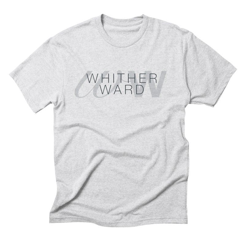 WW + Words (black) Men's Triblend T-Shirt by whitherward's Artist Shop