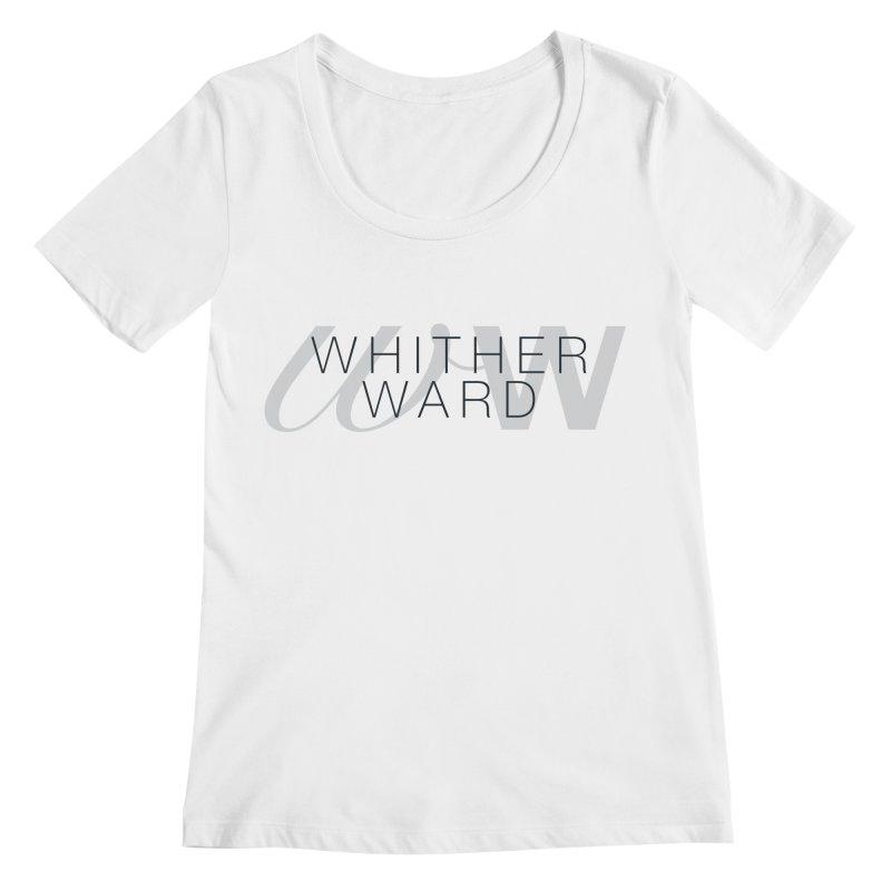 WW + Words (black) Women's Regular Scoop Neck by whitherward's Artist Shop