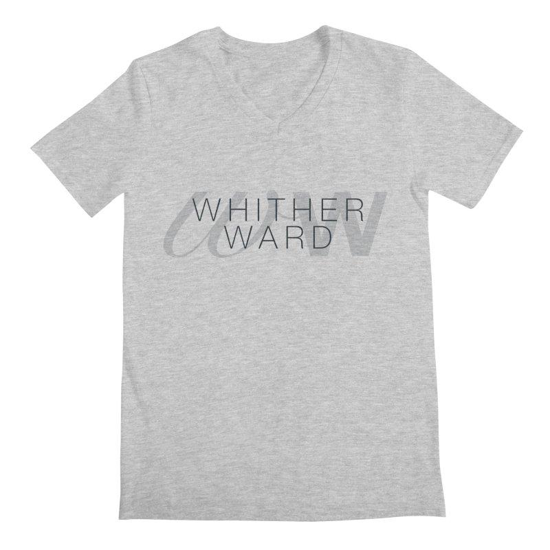WW + Words (black) Men's Regular V-Neck by whitherward's Artist Shop