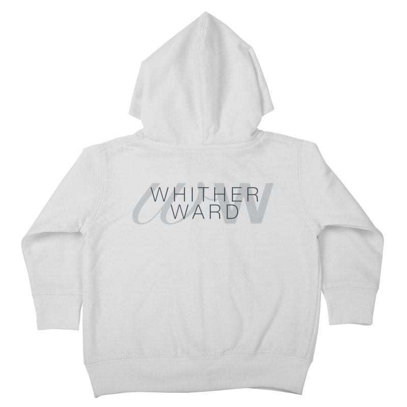 WW + Words (black) Kids Toddler Zip-Up Hoody by whitherward's Artist Shop