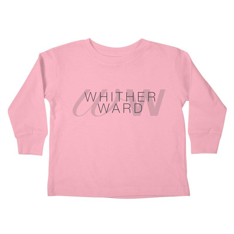 WW + Words (black) Kids Toddler Longsleeve T-Shirt by whitherward's Artist Shop