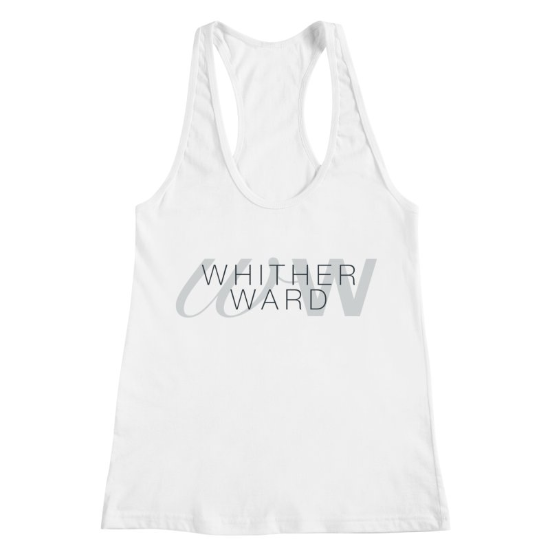 WW + Words (black) Women's Racerback Tank by whitherward's Artist Shop