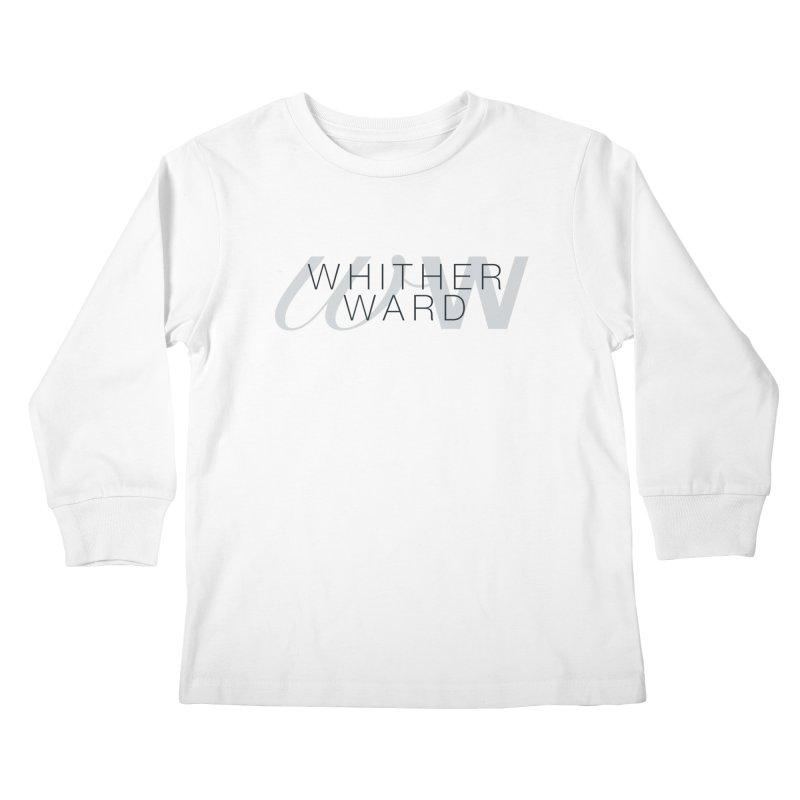 WW + Words (black) Kids Longsleeve T-Shirt by whitherward's Artist Shop