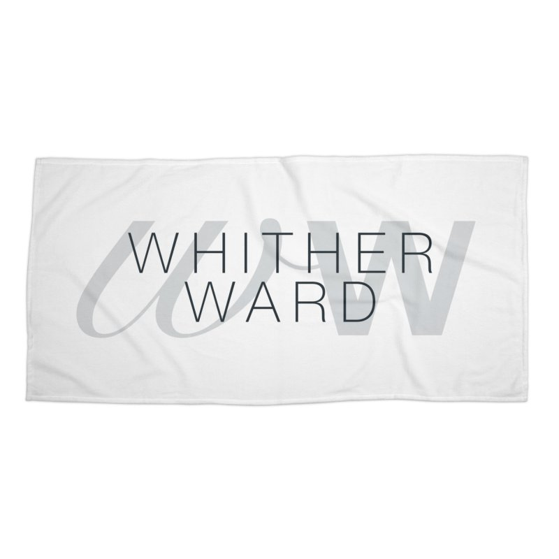 WW + Words (black) Accessories Beach Towel by whitherward's Artist Shop