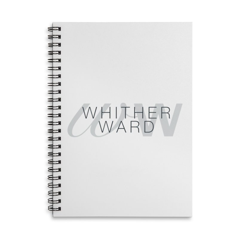 WW + Words (black) Accessories Lined Spiral Notebook by whitherward's Artist Shop