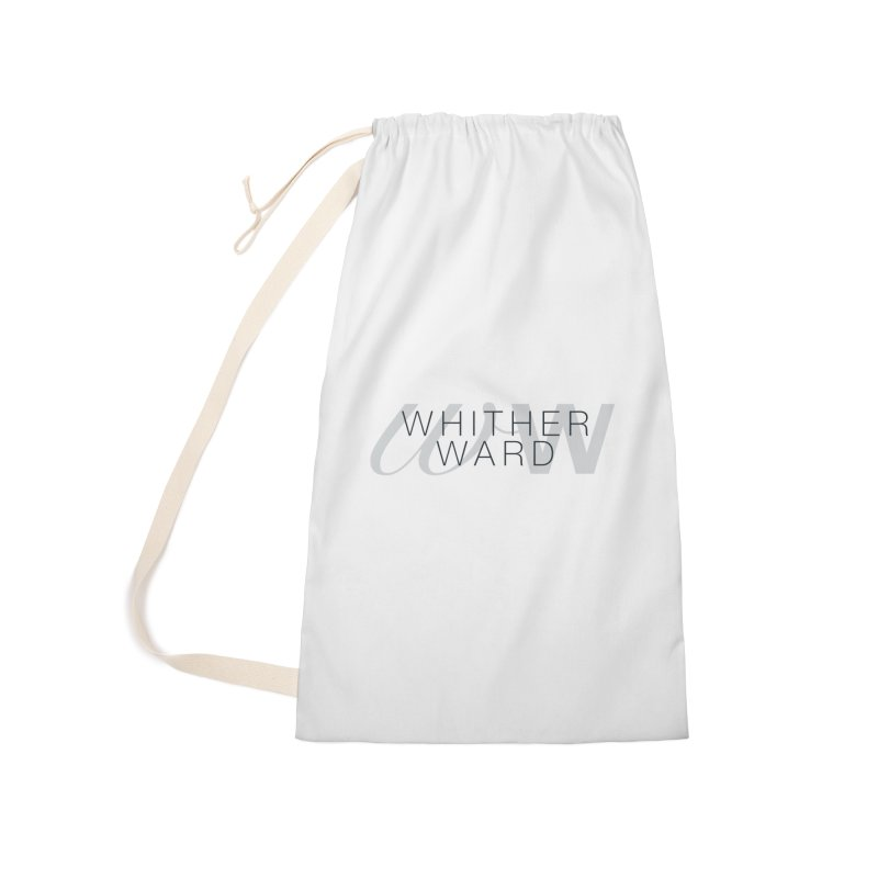WW + Words (black) Accessories Laundry Bag Bag by whitherward's Artist Shop