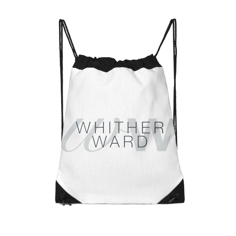 WW + Words (black) Accessories Drawstring Bag Bag by whitherward's Artist Shop