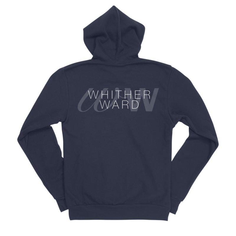 WW + Words (white) Men's Sponge Fleece Zip-Up Hoody by whitherward's Artist Shop