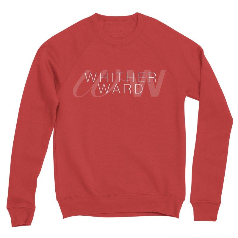 WW + Words (white) Women's Sponge Fleece Sweatshirt by whitherward's Artist Shop