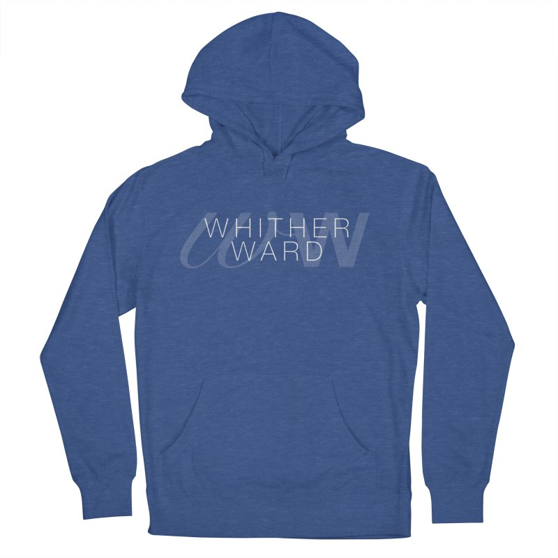 WW + Words (white) Women's French Terry Pullover Hoody by whitherward's Artist Shop