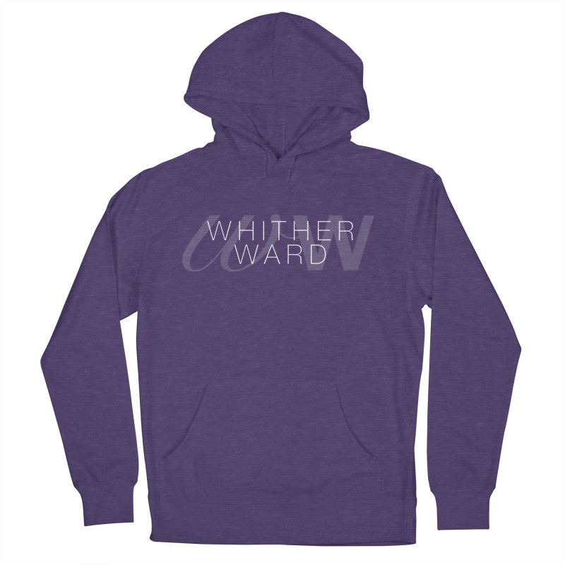WW + Words (white) Men's French Terry Pullover Hoody by whitherward's Artist Shop